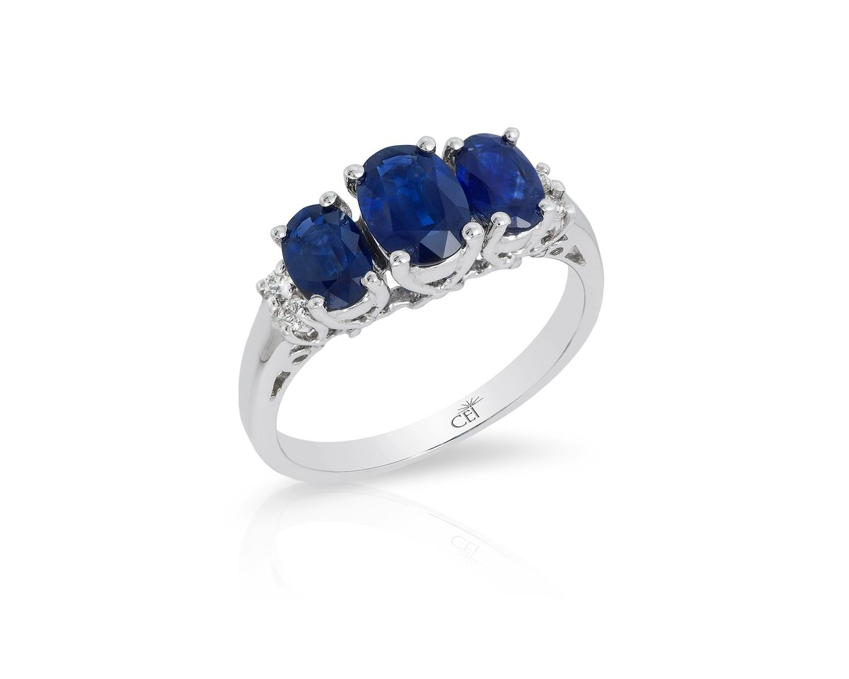 diamond blue ring clara sapphire gemstone image boutique rings