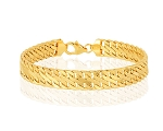 14K Yellow Gold 7.5 Inch Fancy Link Bracelet