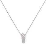 14K White Gold Diamond Sandal Pendant